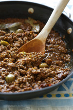 Picadillo is my family's favorite dish! It's really quick and easy to make, I make it a few times a month and make enough so we have leftovers which are great in tacos, stuffed peppers, and just about anything you can think of!