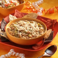 A delicious low fat white bean chili recipe made with beans, turkey, and other ingredients. This can be made on the stove or in a crock pot. Makes great leftovers and tastes even better the next day for lunch!
