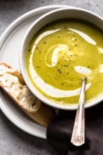 Cream of Broccoli Soup is a favorite of mine, this slimmed down version is so good, and it's quick and easy to prepare.