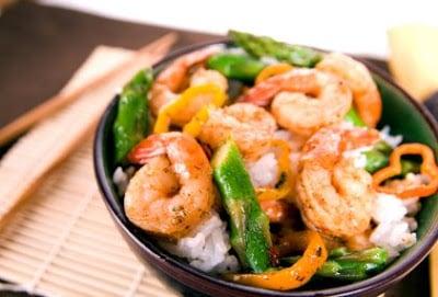 Chili Shrimp and Asparagus Stir Fry