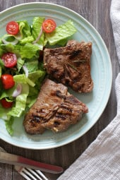 This is my easy go-to recipe for grilled lamb loin chops which can be made indoors or out!