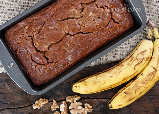 Insanely moist banana nut bread without all the fat! Banana nut bread ...