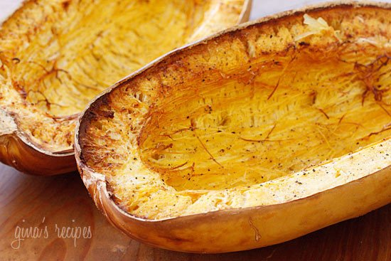 My favorite way to cook spaghetti squash is roasted in the oven. Follow this easy recipe to learn how!