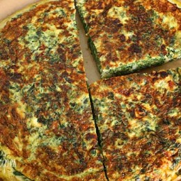 Spinach, scallions, feta and eggs make a fabulous breakfast, or for a low carb lunch serve this frittata with a Greek salad on the side.