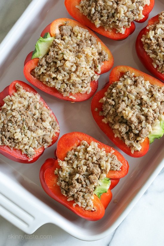 Turkey Stuffed Peppers Recipe — Dishmaps