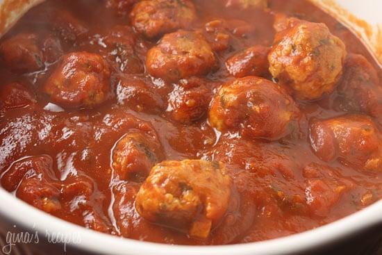 Skinny Italian Turkey Meatballs | Skinnytaste