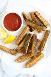 A great way to get even the pickiest of eaters to enjoy zucchini! Perfect as a snack, appetizer or side dish.
