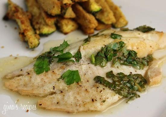 Baked garlic lemon tilapia skinnytaste for Tilapia fish recipes baked