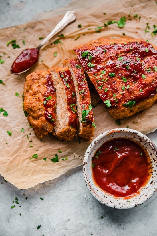 Turkey meatloaf is a favorite in our house! This healthy meatloaf recipe made with lean ground turkey is easy and delicious.