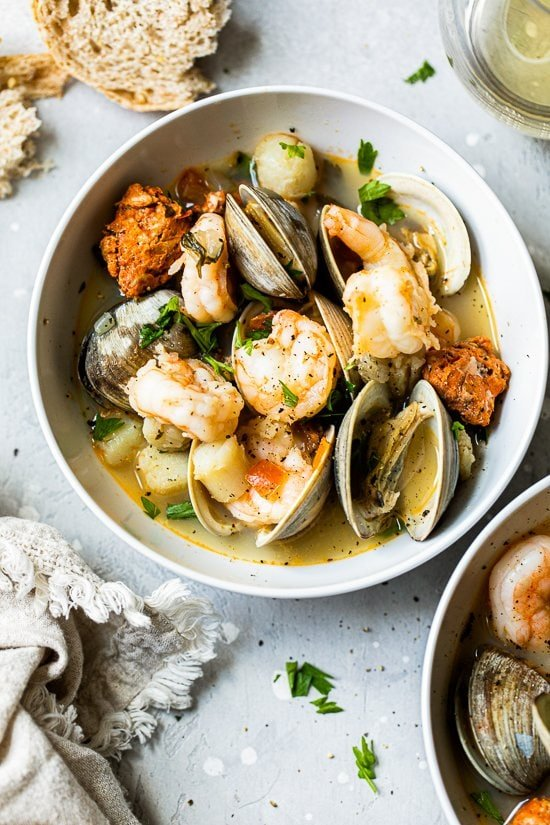 clams and shrimp stew