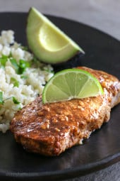 These garlic lime pork chops are so EASY to make, and only take 10 minutes to cook. I usually make them in my broiler but they are also great on the grill, they come out juicy and SO flavorful!