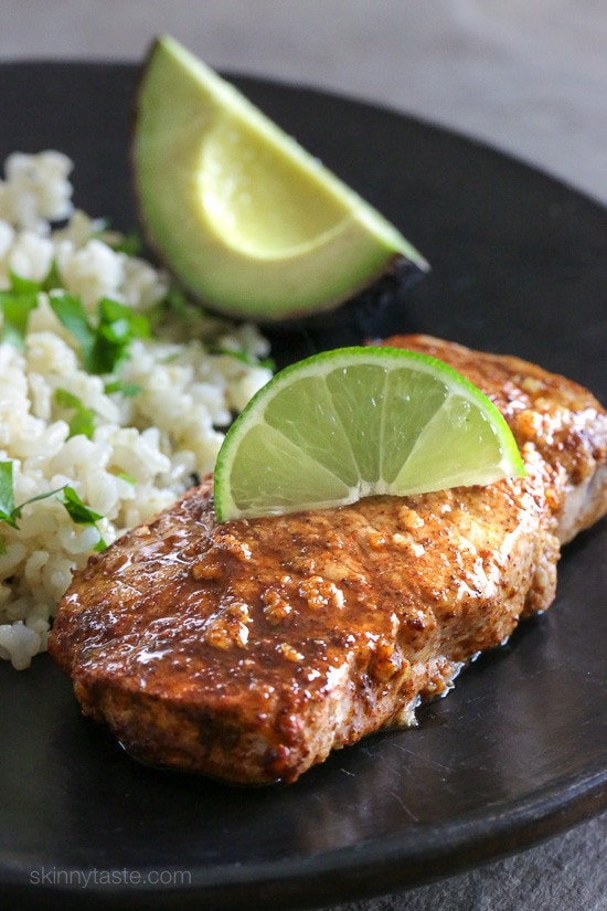 Quick Garlic-Lime Marinated Pork Chops | Skinnytaste
