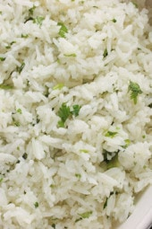 I am a huge fan of the rice at Chipotle's. Here is my copycat version, it tastes just like the real thing. Of course, I used less oil. Makes a wonderful side dish for chicken, beef or pork.