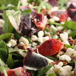 mixed-greens-with-blood-orange-gorgonzola-and-pecans