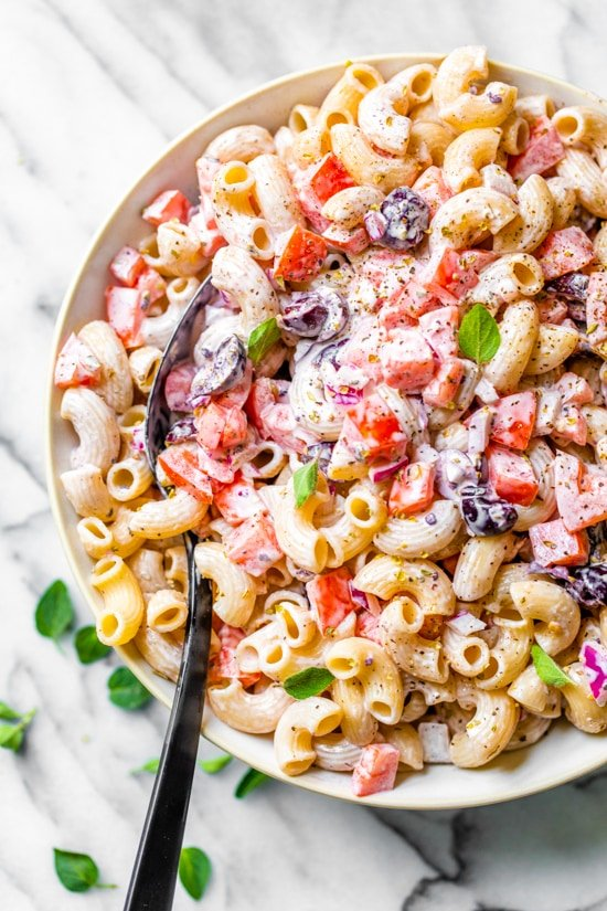 Photo of Macaroni Salad with Tomatoes