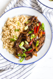 This is the BEST pepper steak recipe, it's easy, ready in under 20 minutes and it's always a winner with my family. SO good, you'll never buy restaurant pepper steak again!