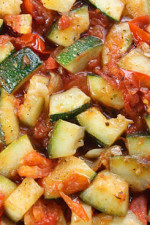 Sautéed Zucchini with Plum Tomatoes is a quick and delicious summer side dish.