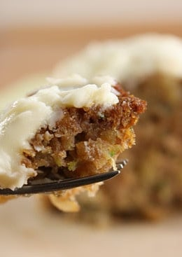 This delicious, healthy Pineapple Zucchini Cake with Cream Cheese Frosting is absolutely incredible! Low in fat, high in fiber and extremely moist.