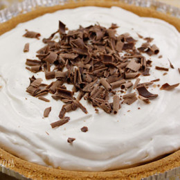 Pie is one of my favorite desserts and this lightened Banana Cream Pie recipe is creamy and delicious and super easy to make. I brought this to my Mother's house for dessert and the entire pie disappeared in minutes.