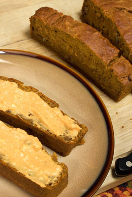 This Fall pumpkin banana bread is basically my Banana Nut Bread recipe which is a deliciously moist bread and I improvised it with the pumpkin and spices.