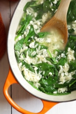 Stracciatella soup is a really quick Italian classic made with chicken broth, egg, parmesan, fresh spinach and orzo. Basically an Italian egg drop soup, which takes under twenty minutes to make so it's perfect for any weeknight.