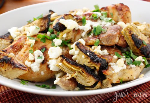 Chicken Thighs with Artichoke Hearts and Feta Cheese | Skinnytaste