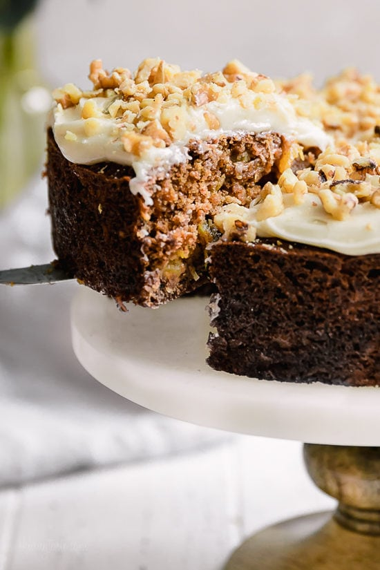 Low Fat Carrot Cake With Crushed Pineapple