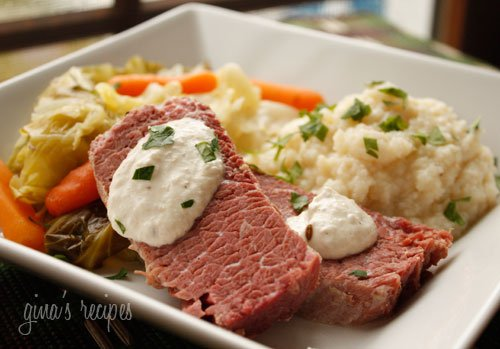 Corned Beef and Cabbage with Horseradish Cream Skinnytaste