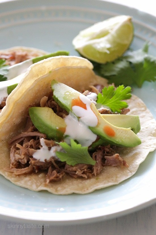 Slow Cooker Pork Carnitas (Mexican Pulled Pork) –delicious pork you can use to make tacos, burrito bowls or serve this over salad!