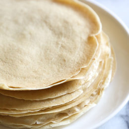 Crespelles are Italian crepes used in dishes such as manicotti, lasagna and other stuffed dishes in place of pasta. They have a lighter texture than pasta and taste delicious.
