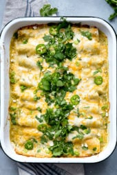 White beans, shredded chicken, green chiles, sour cream and cheese – need I say more?