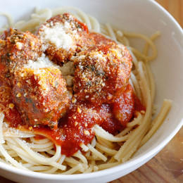 These meatballs would make my husband's Italian family proud! I wanted to lighten my favorite new way to make Italian meatballs and the Spinach meatball was born. Adding spinach to your meatballs adds volume and fiber, so you can eat the same amount of meatballs with fewer calories, and it's a great way to sneak veggies into your picky kid's meal.