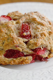 strawberry-scones