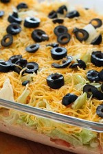 This super easy, no cook skinny taco dip is a MUST have at any get together: birthdays, football, holidays– the dip always disappears! Serve with tortilla chips.