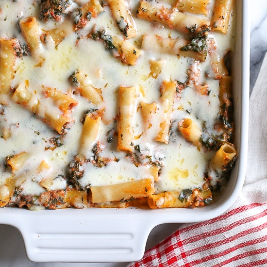 Baked Ziti with Spinach | Skinnytaste