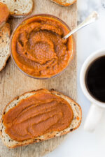 Pumpkin lovers will love this easy, pumpkin butter recipe made from scratch. It's delicious smeared on toast, oatmeal, yogurt, and more!
