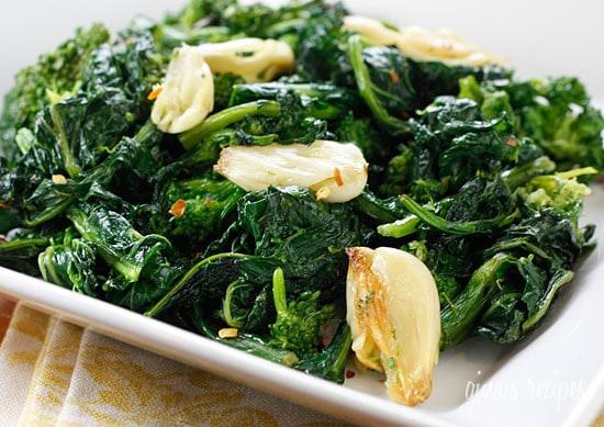 Roasted Broccoli Rabe With Garlic Skinnytaste