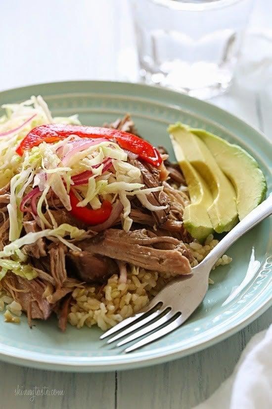 Skinny Slow Cooker Pernil (Puerto Rican Pork)
