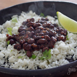 Get your Latin groove on with these Cuban inspired black beans, loaded with mucho sabor (lots of flavor)! Easy to make and ready in twenty minutes, but don't let that fool you, there is plenty of flavor in these beans. Low fat, super high in fiber, vegan, gluten free, inexpensive and delicioso!