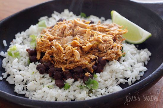 Sweet and spicy slow cooked barbacao pork sweetened with brown sugar, cola, chipotle chilies, green chilies, cumin and spices. Delicious over cilantro lime rice and black beans.