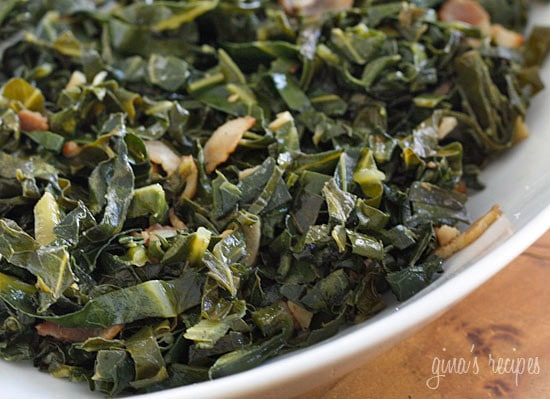 Sauteed Collard Greens with Bacon | Skinnytaste