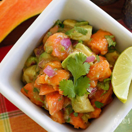 Papaya, avocados, lime juice and cilantro – this luscious tropical salad will make you feel like you are in the sunny Caribbean.