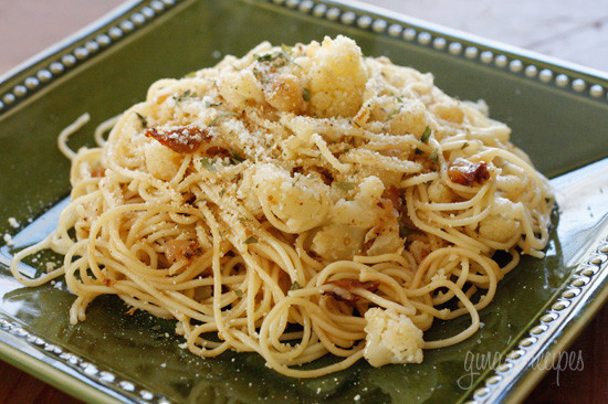 Recipes using cauliflower and pasta