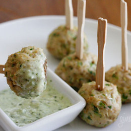 Meatballs make the perfect finger food and are so much fun to eat. Put them on a platter with toothpicks or serve them on small buns to make sliders and you have yourself a party!
