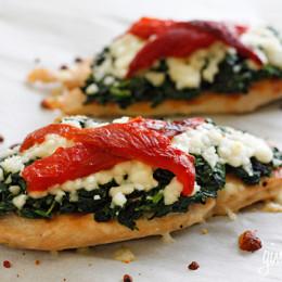 Grilled-chicken-spinach-melted-mozzarella