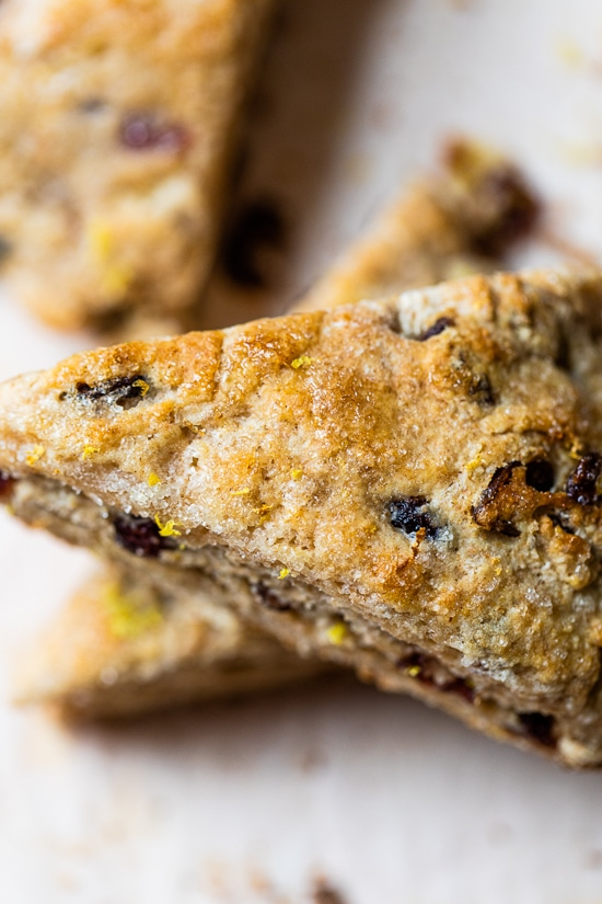 cranberry scone close up