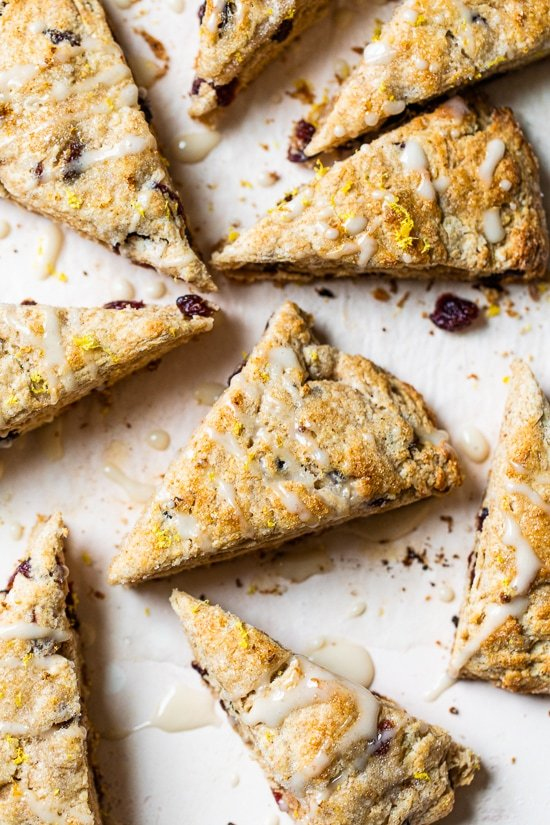 Lemon Cranberry Scones with Glaze