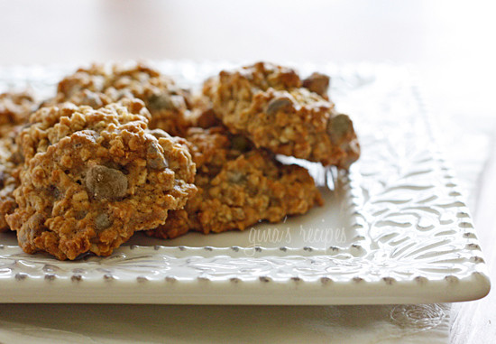 Low fat chewy chocolate chip oatmeal cookies skinnytaste for Low fat chocolate biscuits