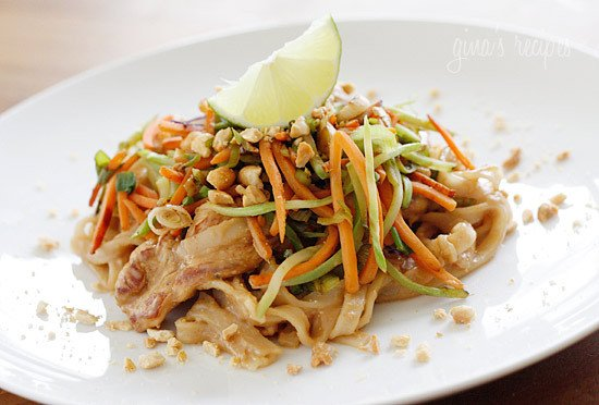 Asian Peanut Noodles With Chicken Lightened Up