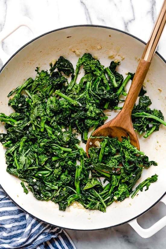 How to make broccoli rabe with pasta